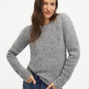 J Crew Puff Sleeve Fuzzy Sweater Alpaca Merino NEW